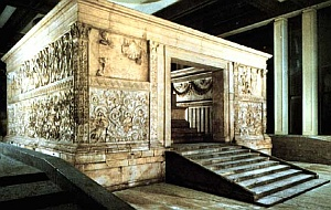 The Ara Pacis, Exterior View